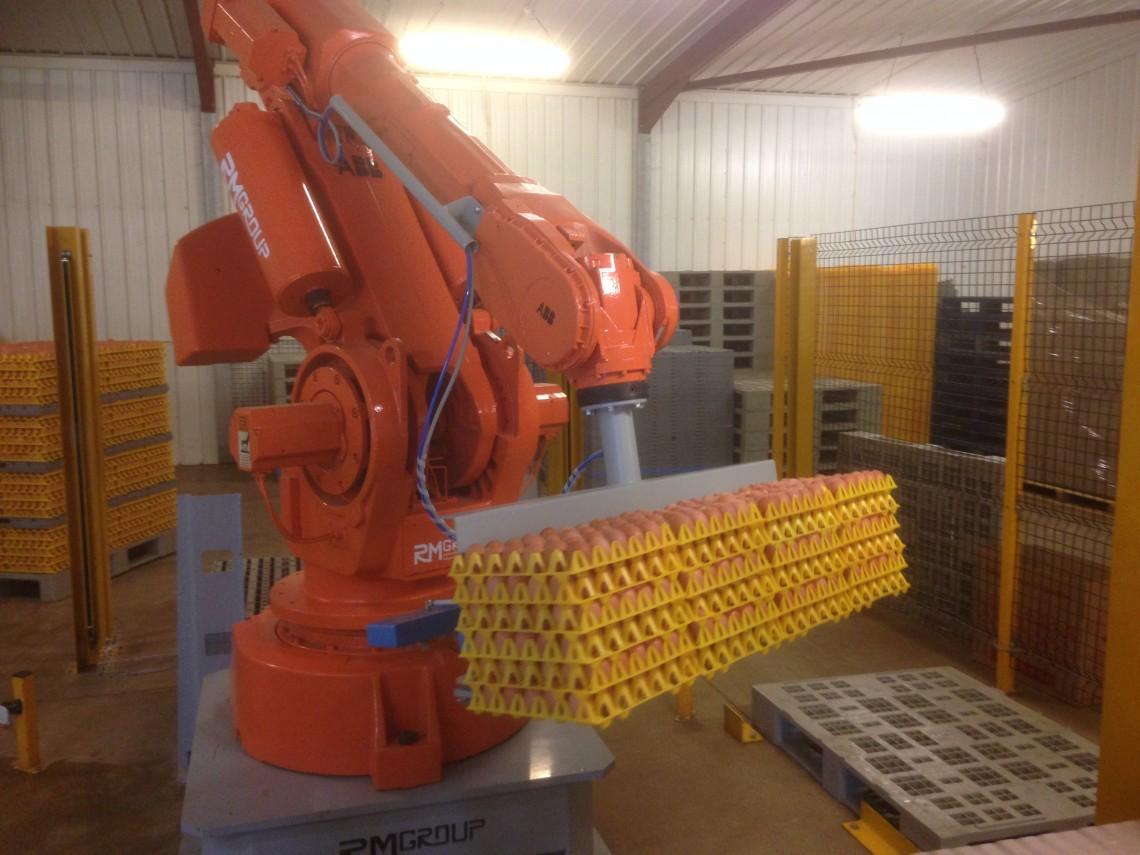 Sunrise Eggs gentle giant farming robotic machinery.